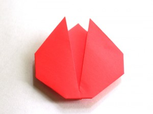 Simple folded origami tulip