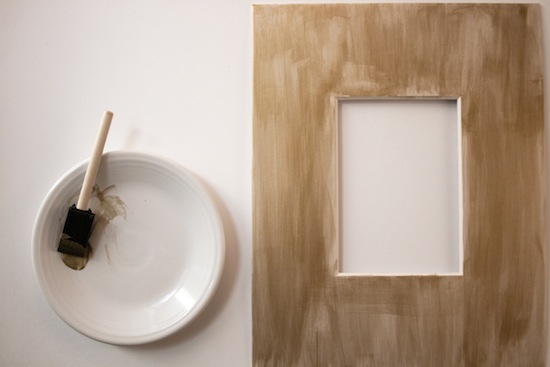 painting glitter mat frames