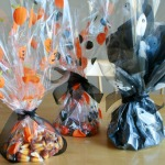 Painted Cellophane Goodie Bags