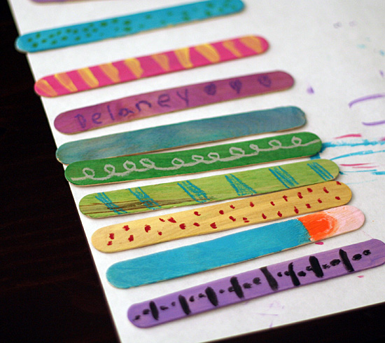 Fun painted craft stick project for kids