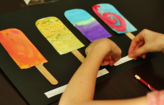 Naming your painted popsicles