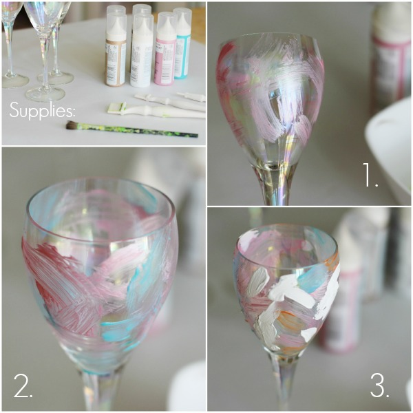 painterly glasses collage steps
