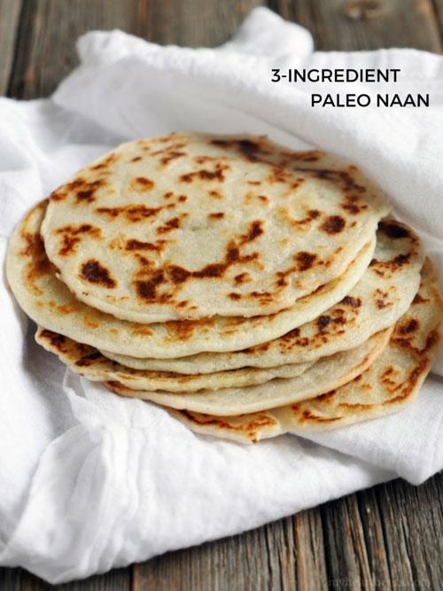 3 Ingredient Paleo Naan