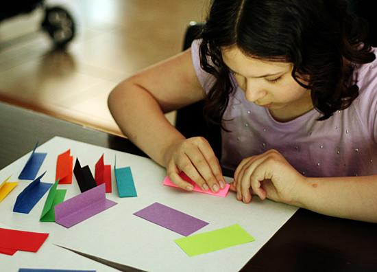 Paper cube craft