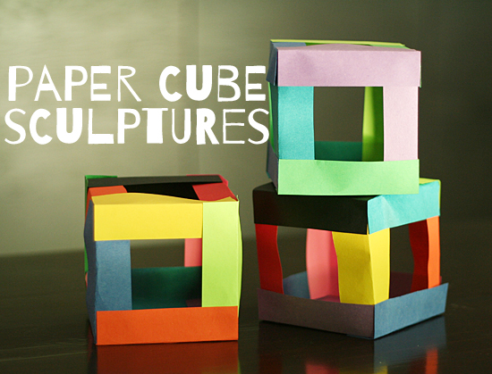 Paper cube sculptures