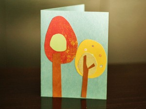 Paper Fall Trees Card