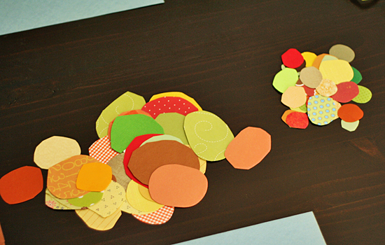 Fall color circles for tree craft