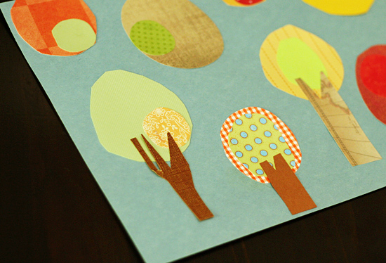 Adding trunks to paper trees