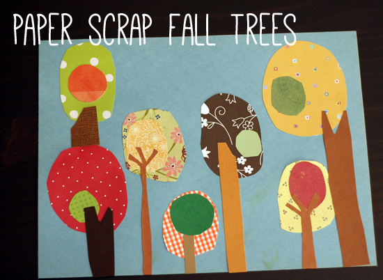 Paper Scrap Fall Trees Craft Project