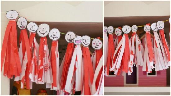 paper people tassel collage