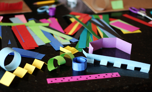 3-D Paper Sculptures With Kids