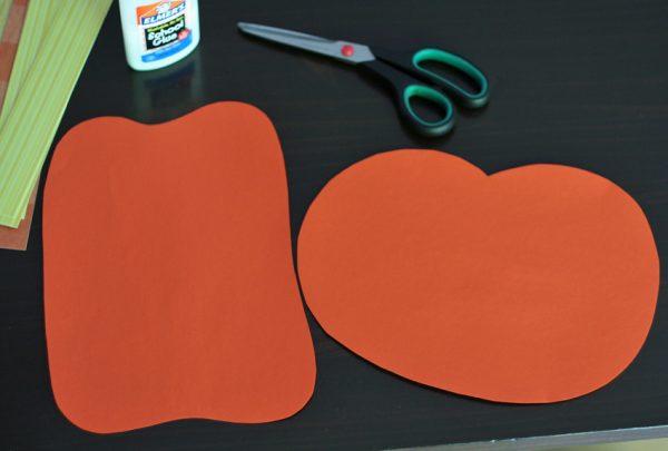 Supplies for paper weaving pumpkins