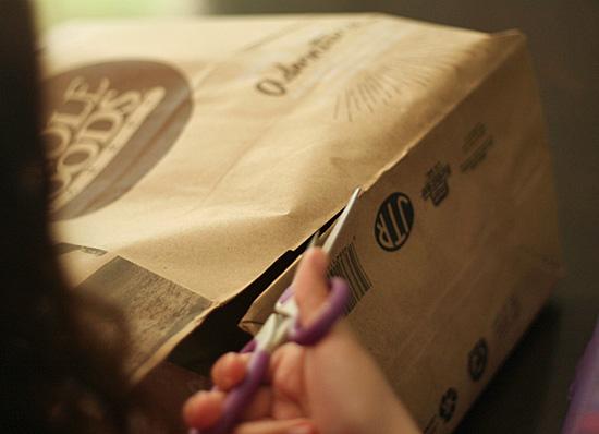 Making a paper bag portfolio