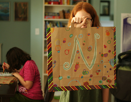 Craft a paper bag portfolio