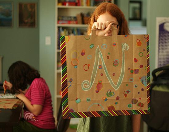 Craft a paper bag portfolio