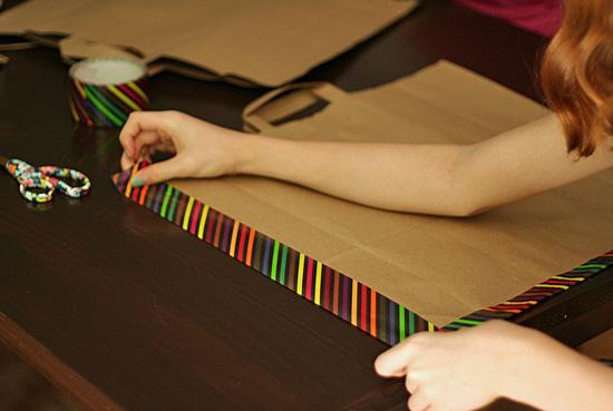 Paper bag and duct tape portfolio