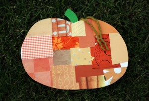 Patchwork pumpkin craft project