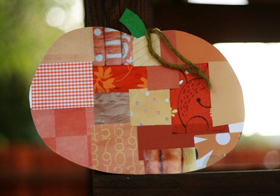 Finished Patchwork Pumpkin