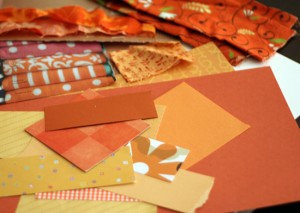 Patchwork pumpkin supplies