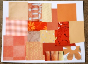 Patchwork pumpkins craft project