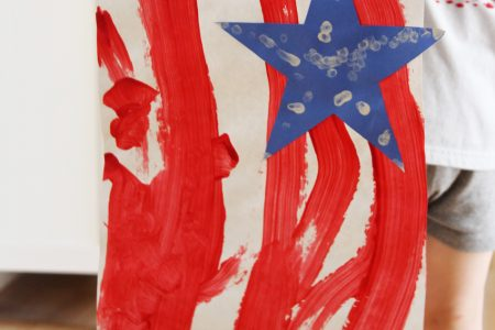 Paint a patriotic banner for the 4th of July!
