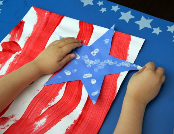 4th of July patriotic banner art project