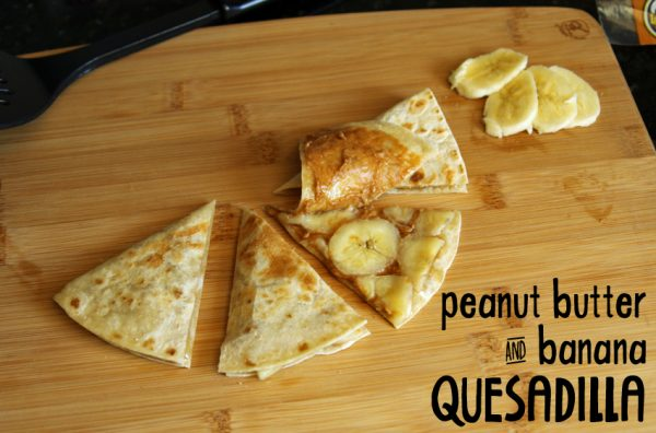 Peanut butter and banana quesadilla