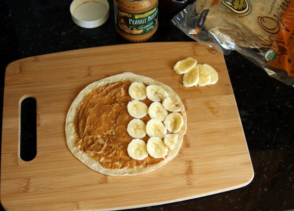 Kids in the Kitchen: Peanut butter and banana quesadilla