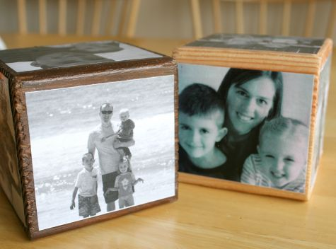 Mod Podge Photo Cube
