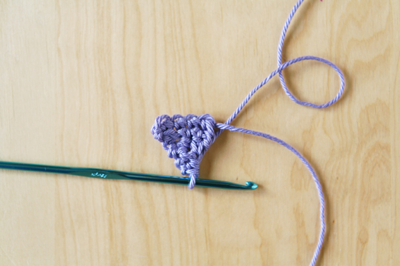 Finished Crochet Bunting Triangle