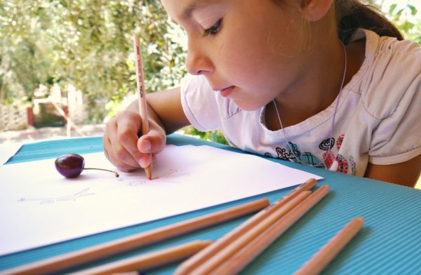 Kids Craft How to Draw With Fruits And Vegetables