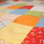 Piecing Cut Squares