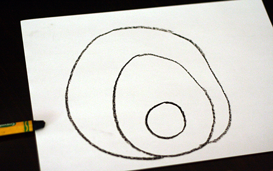 Drawing a pig with circles