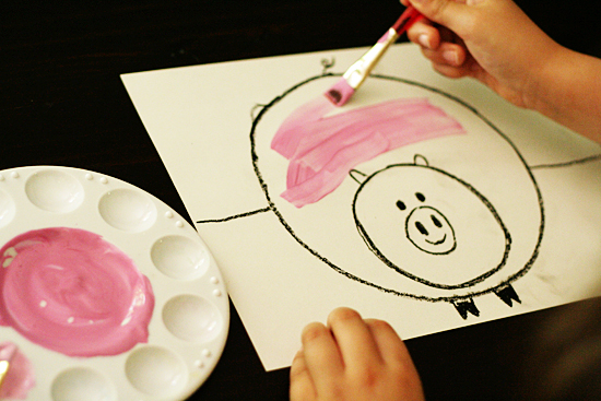 Pig painting project