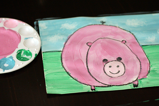 Pig Painting Art Project
