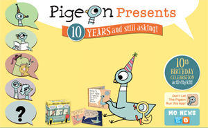 Pigeon Presents! Mo Willems website