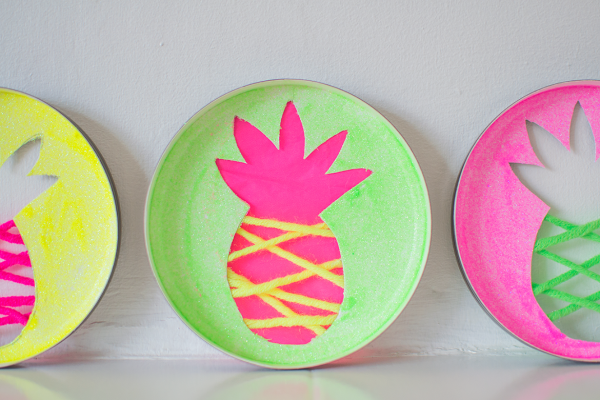 Neon Pineapple Sun Catchers