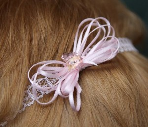 pink band in hair