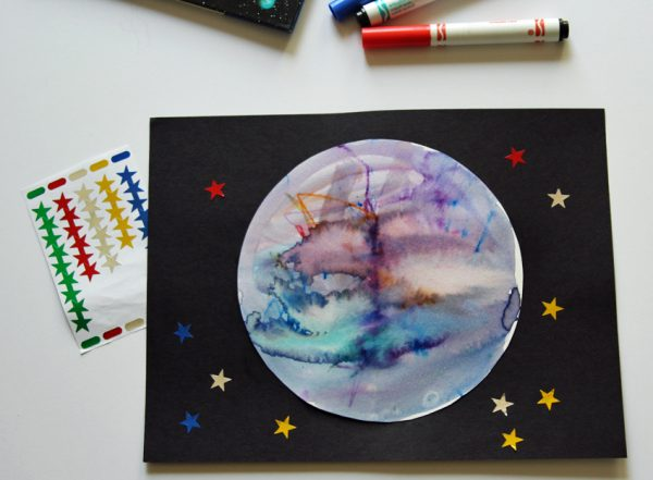 Kids' art project: create your own planet