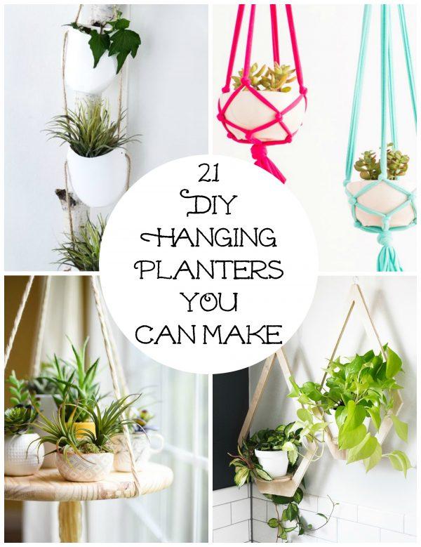 21 DIY Hanging Planters YOU Can Make