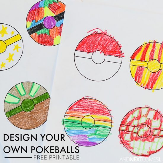 Design Your Own Pokéball Printable