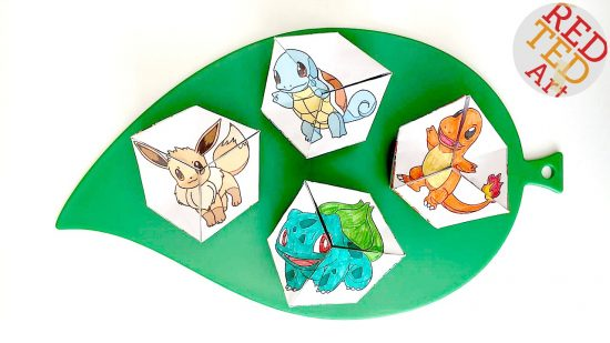 Pokémon Evolution Kaleidoscope Paper Toy