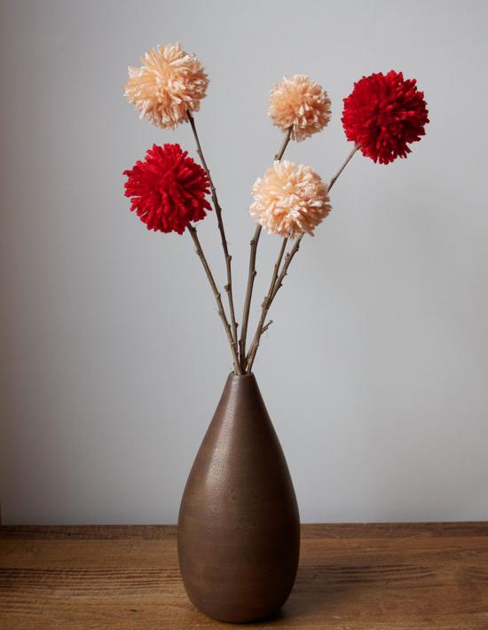 Valentine Pom Pom Flowers Make And Takes
