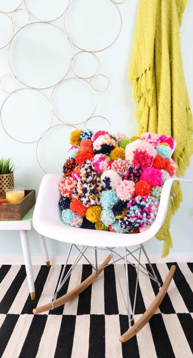 A Cozy Pom Pom Pillow