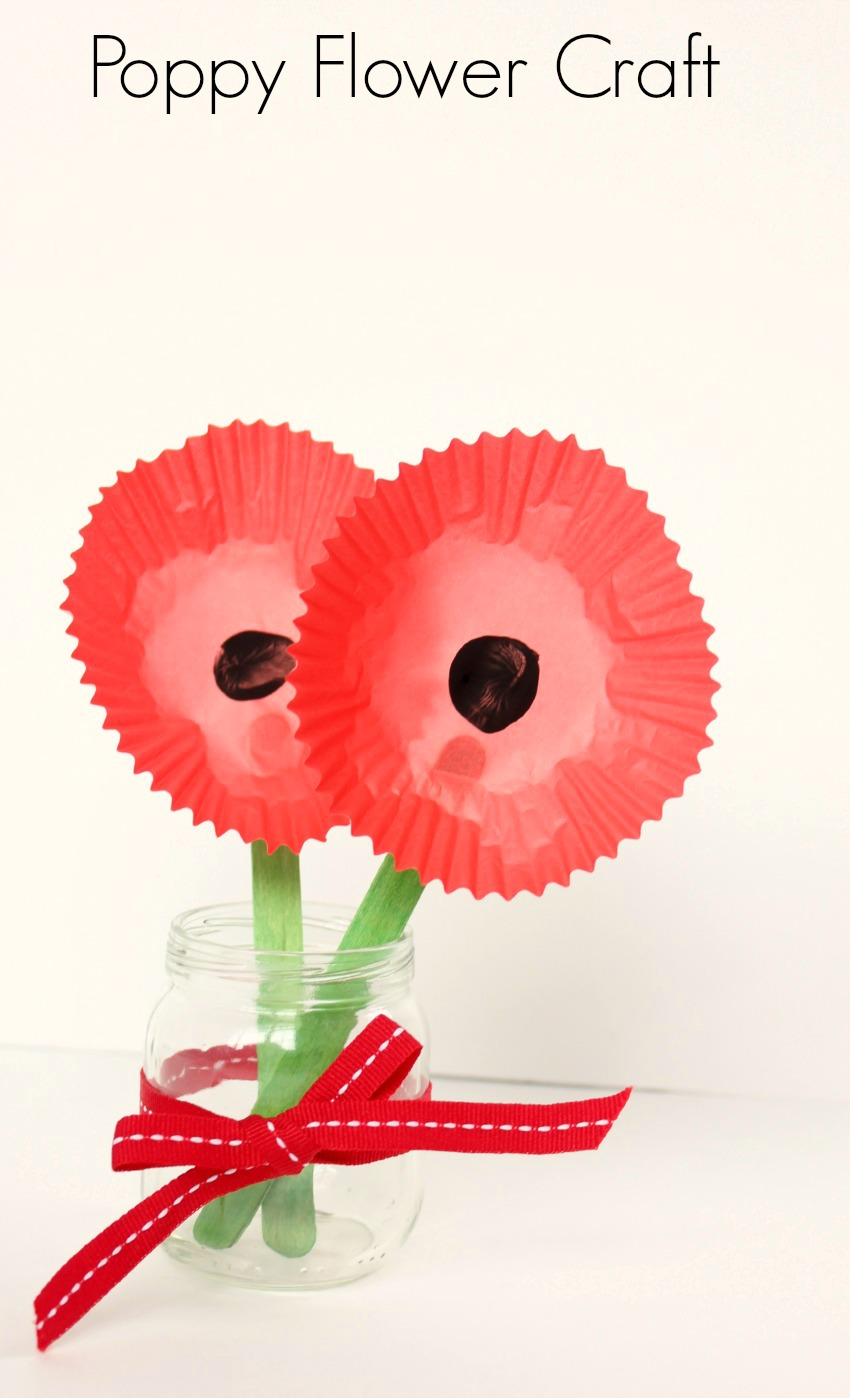 Poppy Flower Craft