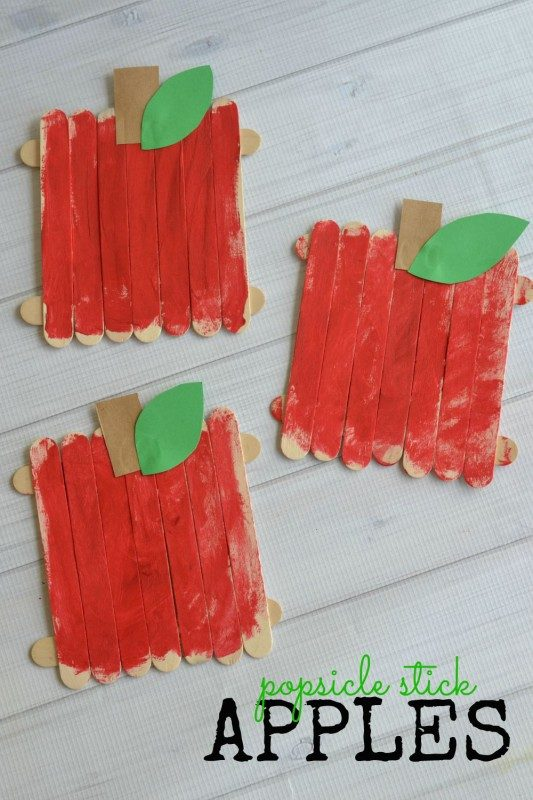 Popsicle Stick Apples