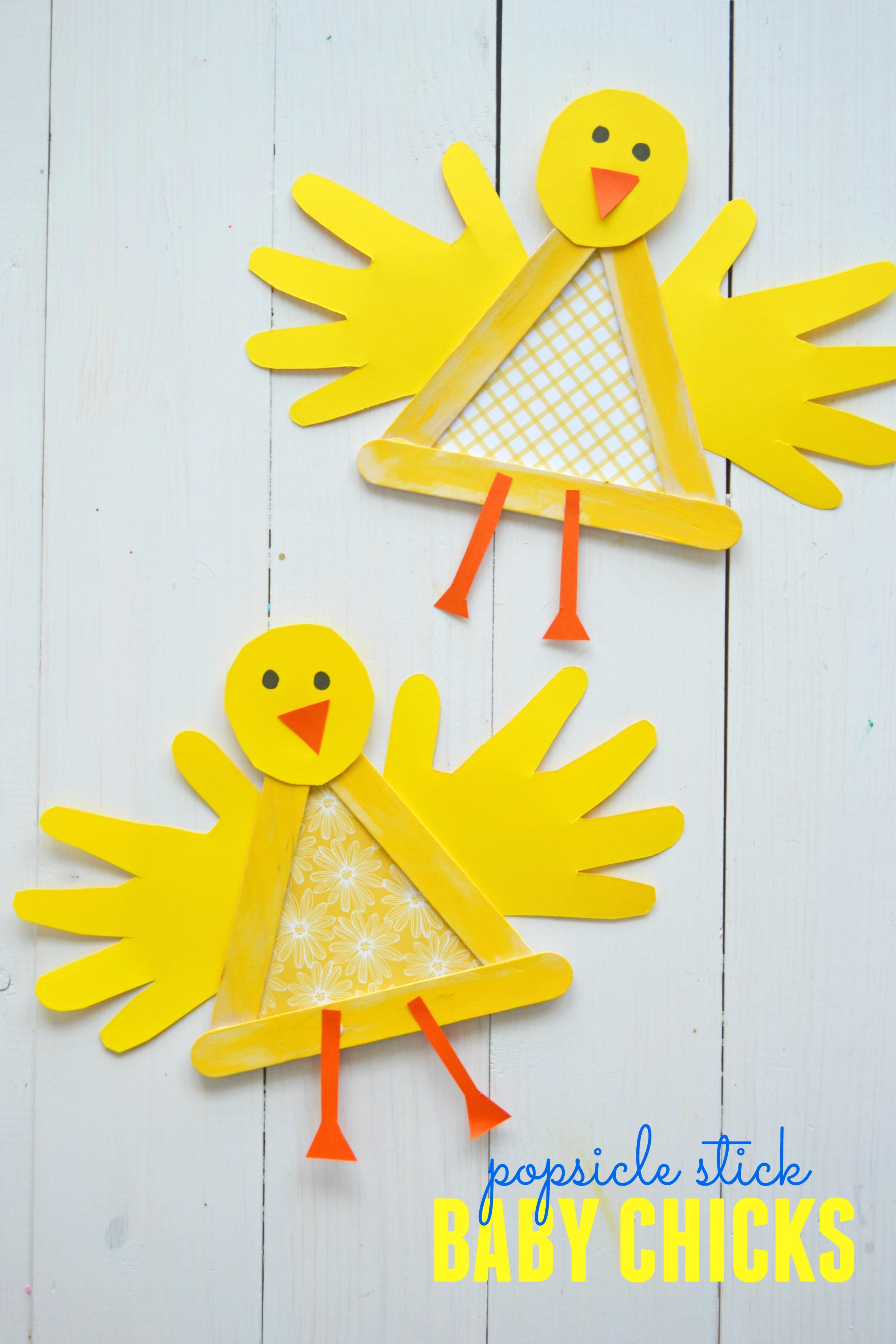 Crafty Popsicle Stick Baby Chick For Spring Make And Takes
