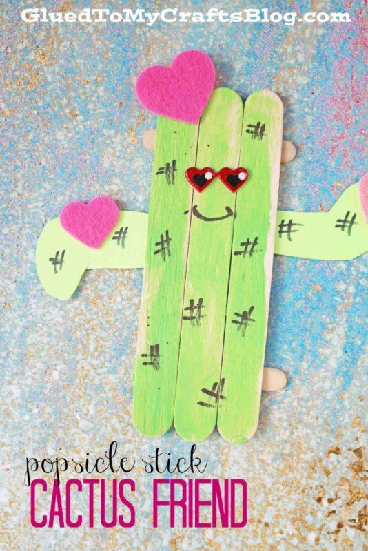 Popsicle Stick Cactus Friend