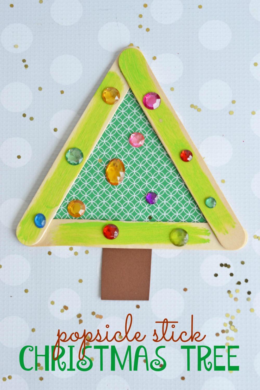 how to make stick christmas tree