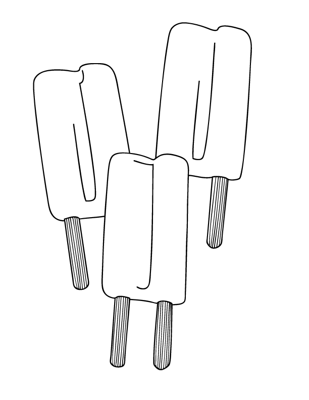 Popsicles Coloring Page
